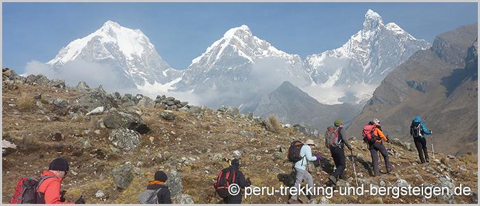 Trekking Huayhuash mit Nevado Tocllaraju